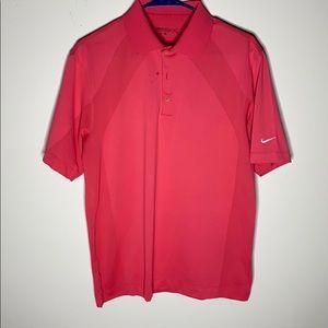Coral color Men's Nike golf polo